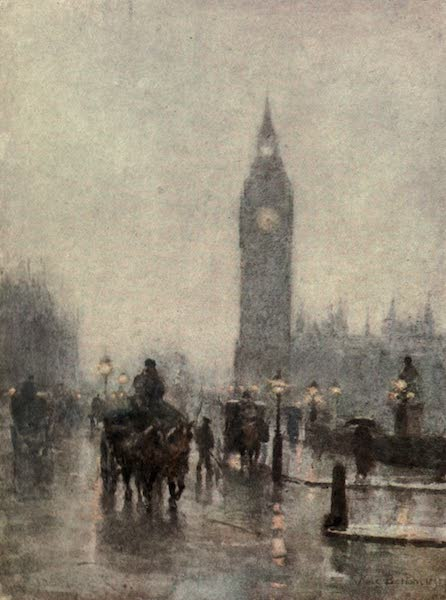 Familiar London Painted by Rose Barton - Westminster (1904)