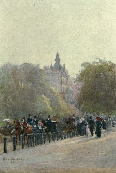 Familiar London Painted by Rose Barton - The Drive, Hyde Park (1904)