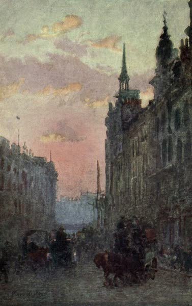 Familiar London Painted by Rose Barton - Ludgate Hill (1904)