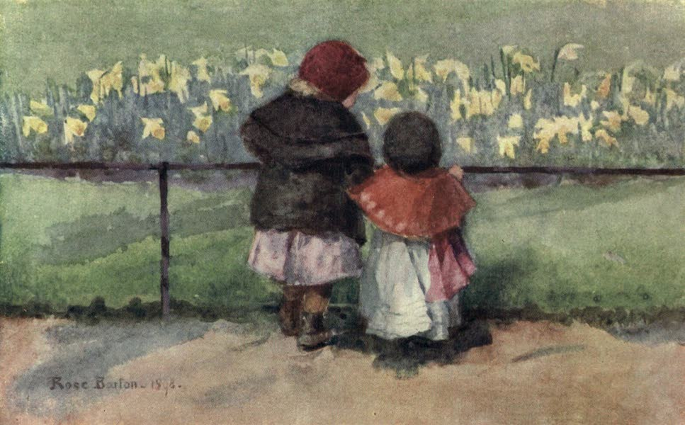 Familiar London Painted by Rose Barton - Spring-time (1904)