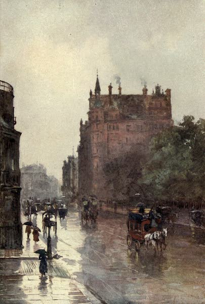 Familiar London Painted by Rose Barton - Isthmian Club, Piccadilly (1904)