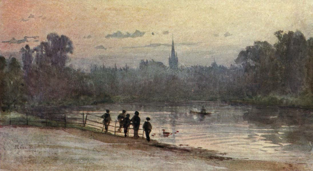 Familiar London Painted by Rose Barton - In Kensington Gardens (1904)