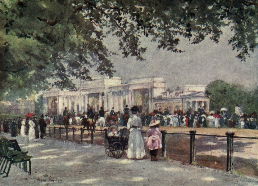 Familiar London Painted by Rose Barton - Waiting for Royalty (1904)