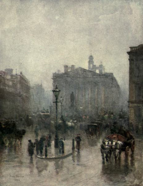 Familiar London Painted by Rose Barton - The Royal Exchange (1904)