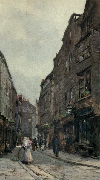 Familiar London Painted by Rose Barton - Cloth Alley, Smithfield (1904)
