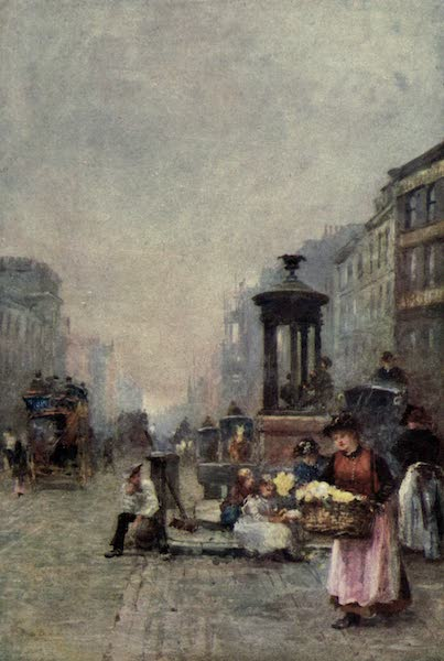 Familiar London Painted by Rose Barton - Flower Girls in the Strand (1904)