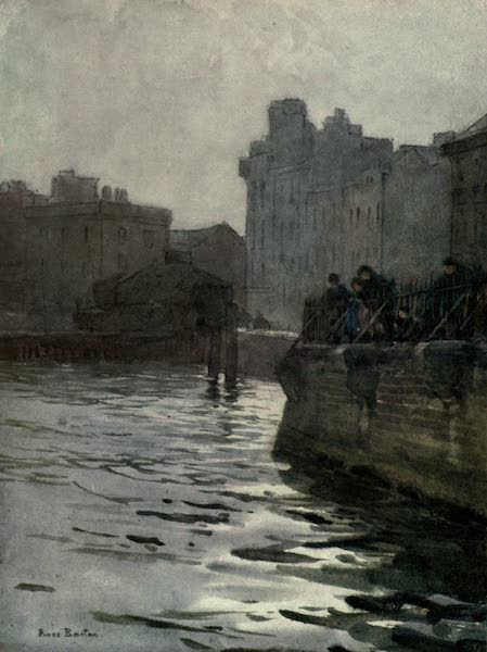 Familiar London Painted by Rose Barton - Old River-wall, Chelsea (1904)
