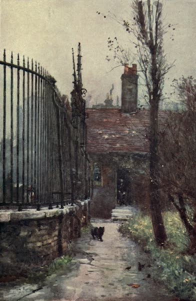 Familiar London Painted by Rose Barton - Emanuel Hospital, Westminster (1904)