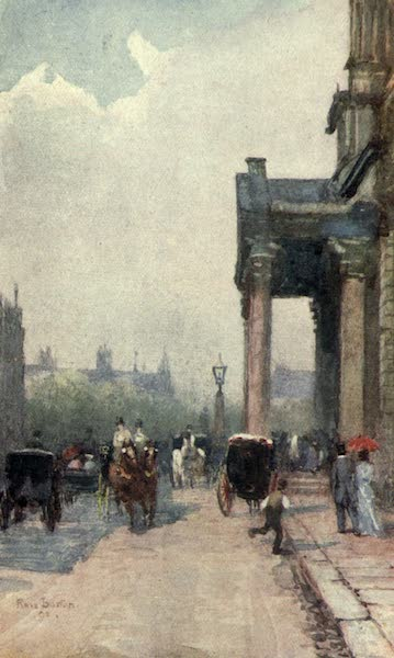 Familiar London Painted by Rose Barton - Haste to the Wedding (1904)