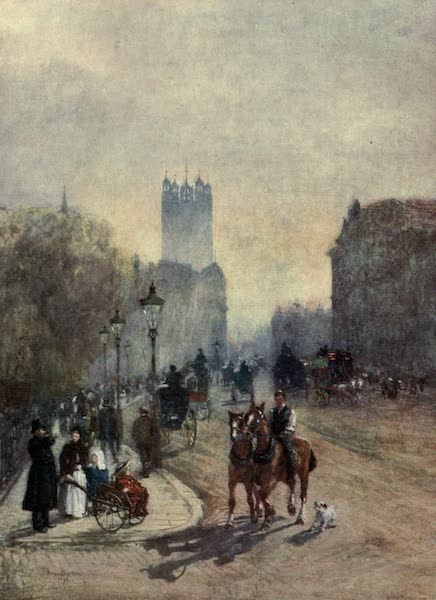 Familiar London Painted by Rose Barton - Parliament Street (1904)