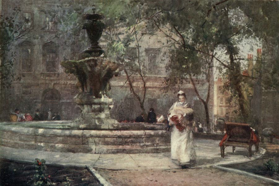 Familiar London Painted by Rose Barton - St Bartholomew's Hospital (1904)