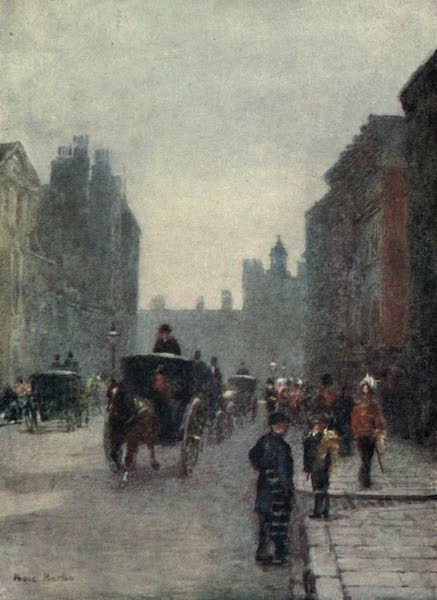 Familiar London Painted by Rose Barton - St James's Street: Levee Day (1904)