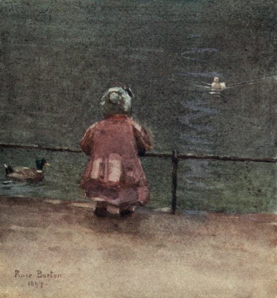 Familiar London Painted by Rose Barton - Three Little Ducks (1904)