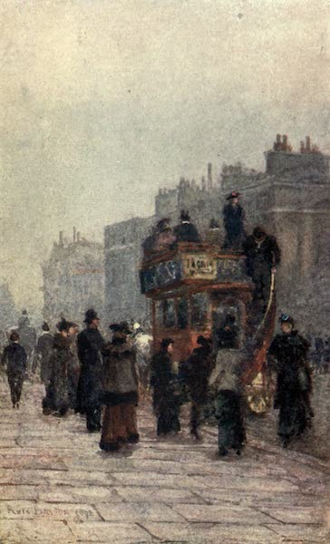 Familiar London Painted by Rose Barton - Hammersmith 'Bus (1904)