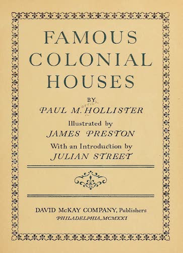 English - Famous Colonial Houses
