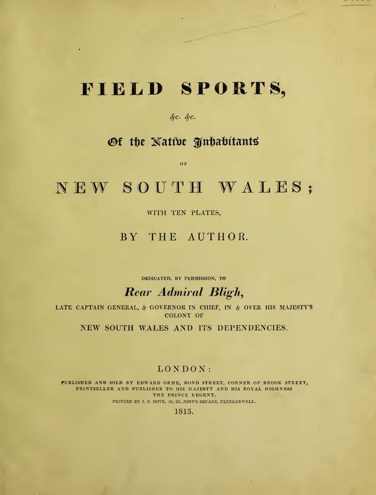 English - Field Sports of the Native Inhabitants of New South Wales