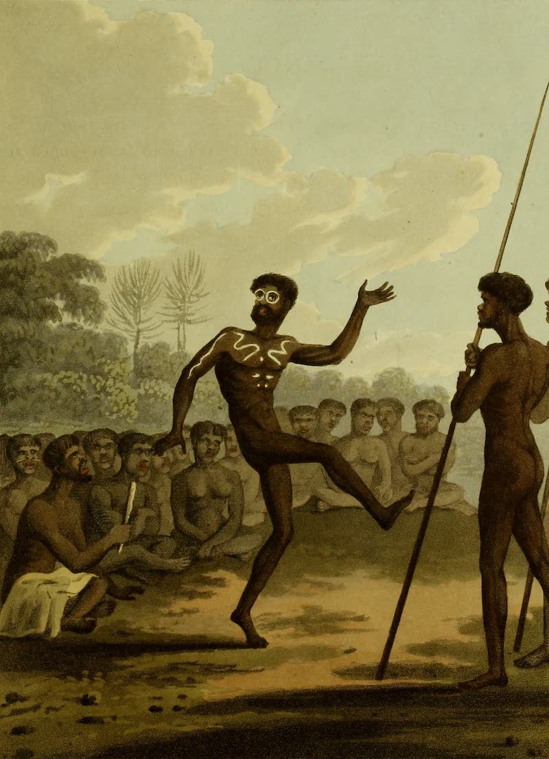 Field Sports of the Native Inhabitants of New South Wales - The Dance (1813)