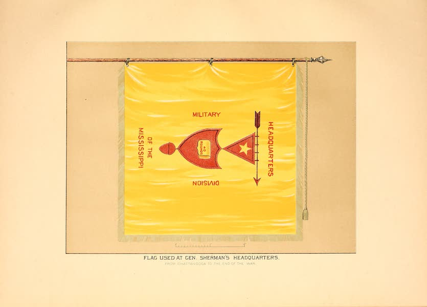 Flags of the Army of the United States - Flag used at Gen. Sherman's Headquarters (1887)
