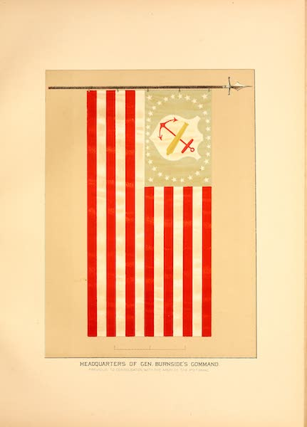 Flags of the Army of the United States - Headquarters of Gen. Burnside's Command (1887)