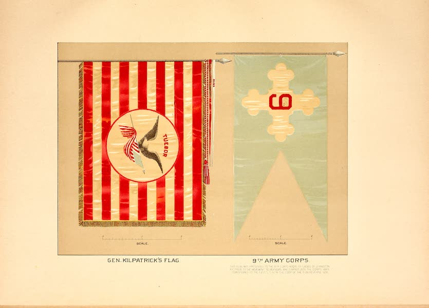 Flags of the Army of the United States - Gen. Kilpatrick's Flag and 9th Army Corps (1887)