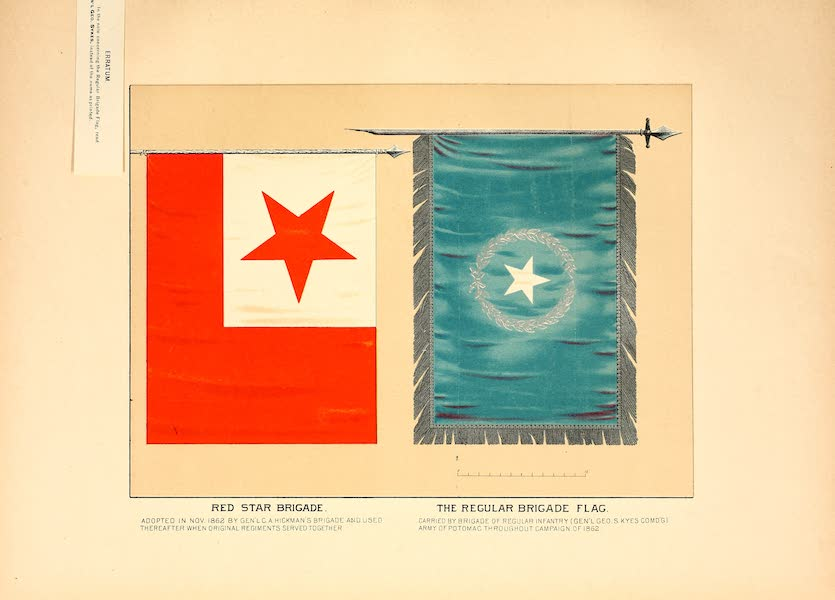 Flags of the Army of the United States - Red Star Brigade and the Regular Brigade Flag (1887)