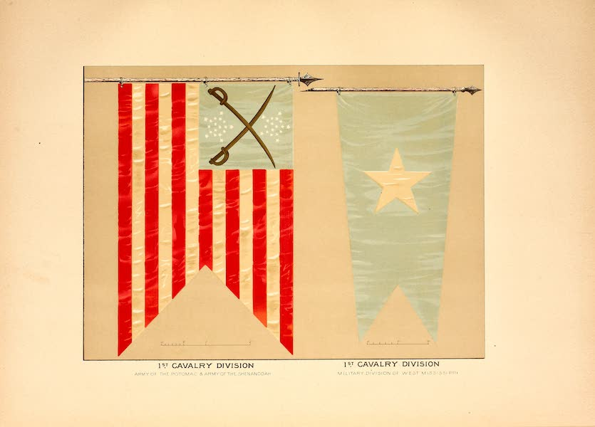 Flags of the Army of the United States - 1st Cavalry Division (1887)