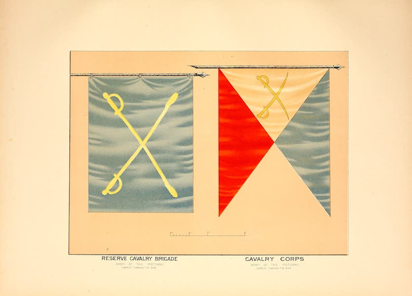 Flags of the Army of the United States - Reserve Cavalry Bridge and Cavalry Corps (1887)