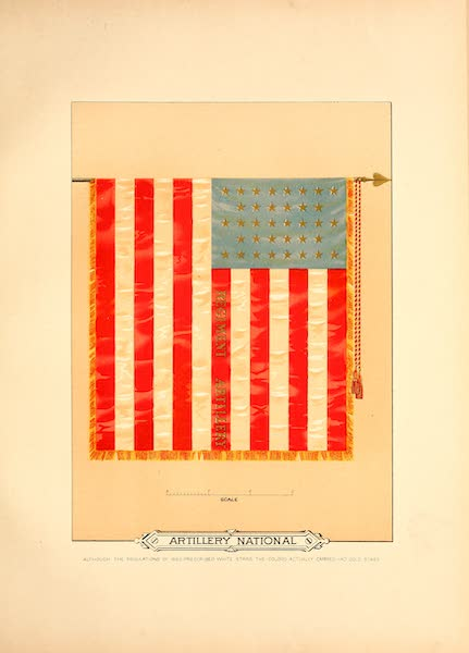 Flags of the Army of the United States - Artillery National (1887)