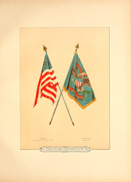 Flags of the Army of the United States - Cavalry and Light Artillery (1887)