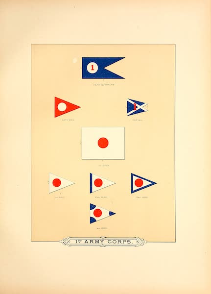 Flags of the Army of the United States - 1st Army Corps (I) (1887)