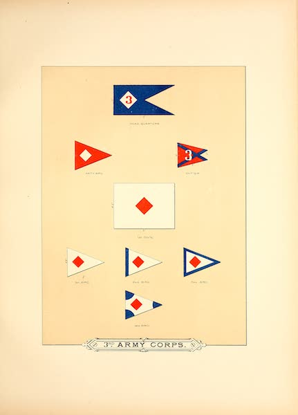 Flags of the Army of the United States - 3rd Army Corps (I) (1887)
