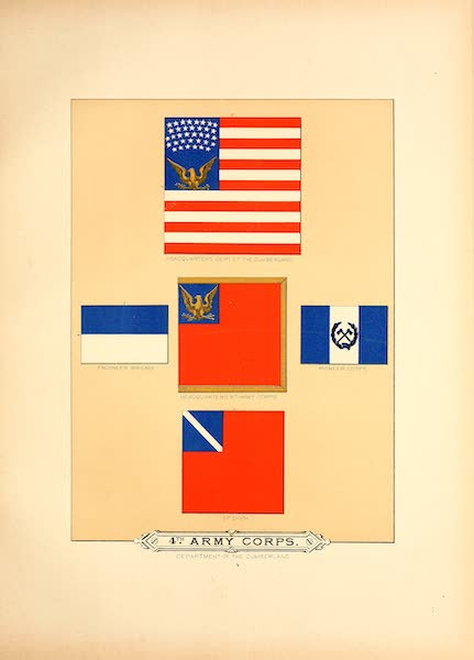 Flags of the Army of the United States - 4th Army Corps (I) (1887)