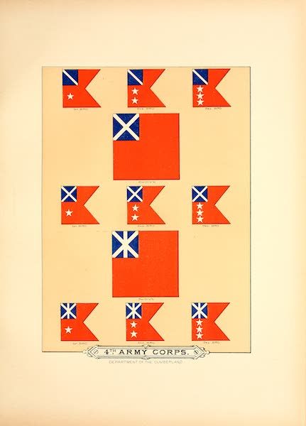 Flags of the Army of the United States - 4th Army Corps (II) (1887)