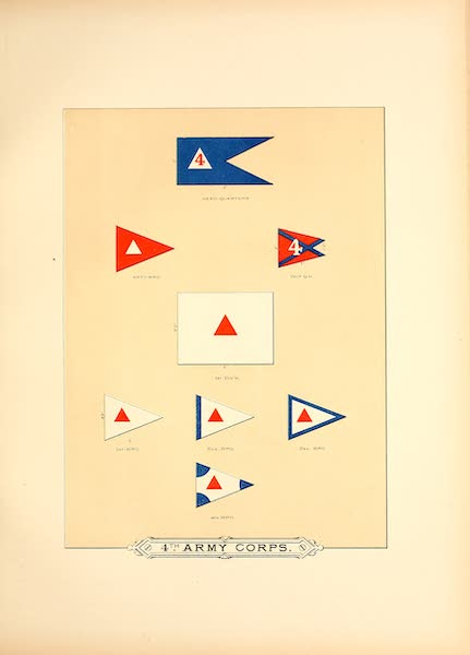 Flags of the Army of the United States - 4th Army Corps (III) (1887)