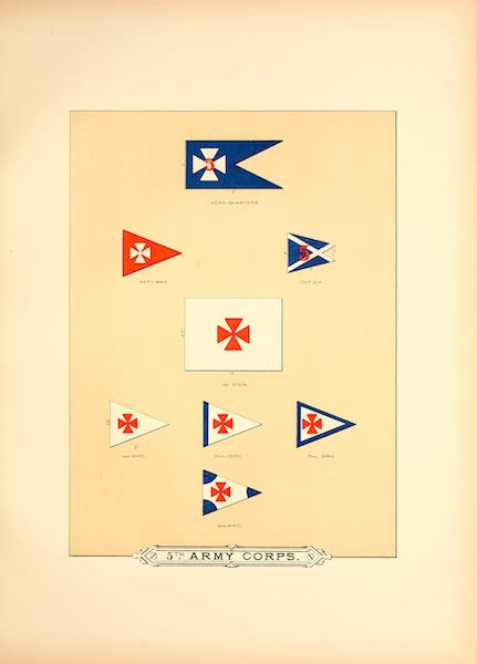 Flags of the Army of the United States - 5th Army Corps (I) (1887)