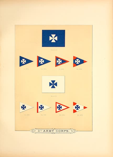 Flags of the Army of the United States - 5th Army Corps (II) (1887)