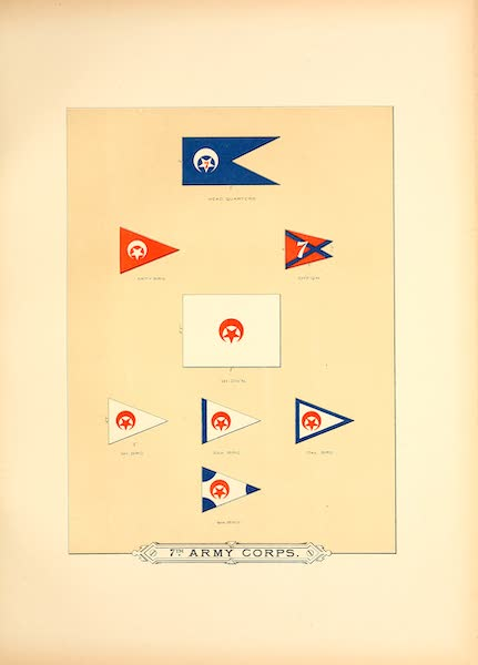 Flags of the Army of the United States - 7th Army Corps (I) (1887)