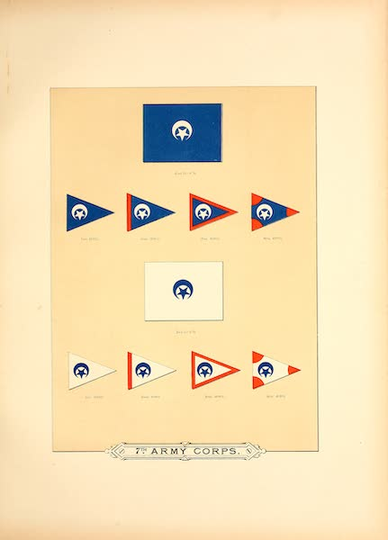 Flags of the Army of the United States - 7th Army Corps (II) (1887)