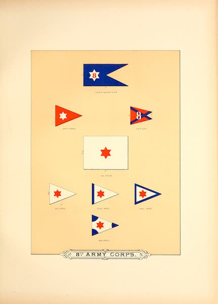 Flags of the Army of the United States - 8th Army Corps (I) (1887)