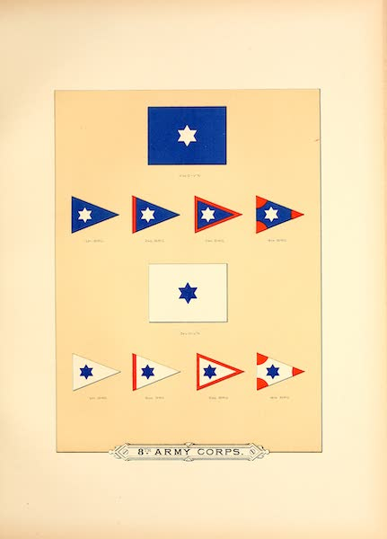 Flags of the Army of the United States - 8th Army Corps (II) (1887)