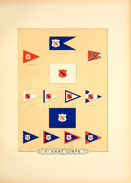 Flags of the Army of the United States - 9th Army Corps (I) (1887)