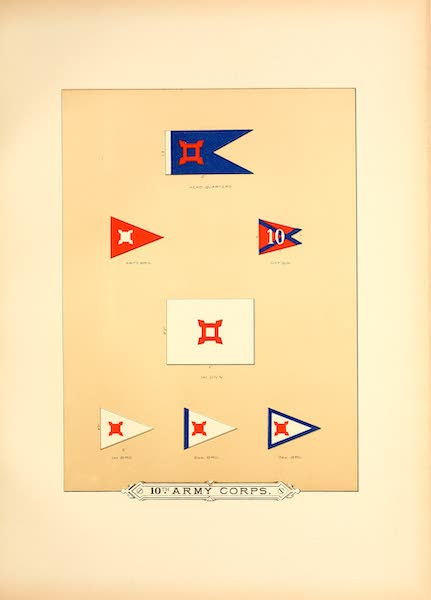 Flags of the Army of the United States - 10th Army Corps (I) (1887)