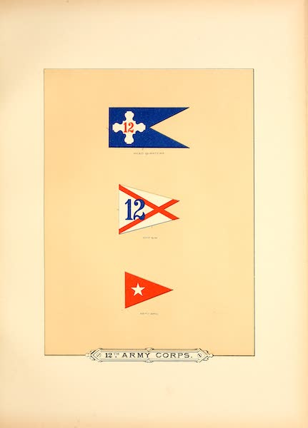 Flags of the Army of the United States - 12th Army Corps (I) (1887)