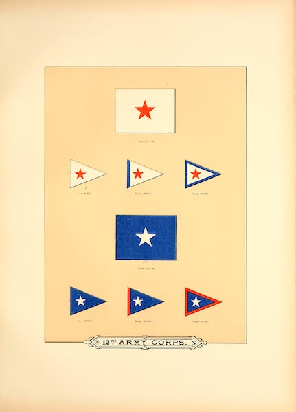 Flags of the Army of the United States - 12th Army Corps (II) (1887)