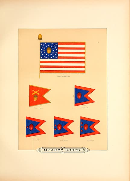 Flags of the Army of the United States - 14th Army Corps (III) (1887)