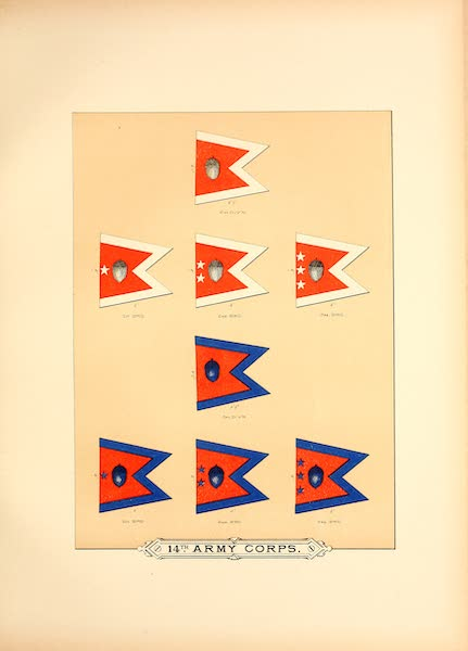 Flags of the Army of the United States - 14th Army Corps (IV) (1887)