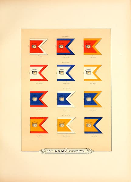 Flags of the Army of the United States - 15th Army Corps (II) (1887)
