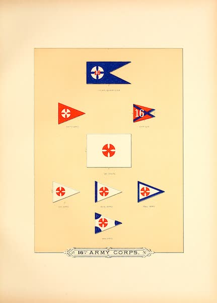 Flags of the Army of the United States - 16th Army Corps (I) (1887)