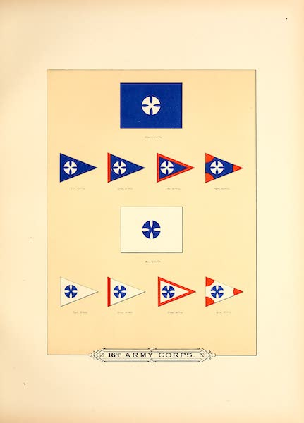 Flags of the Army of the United States - 16th Army Corps (II) (1887)