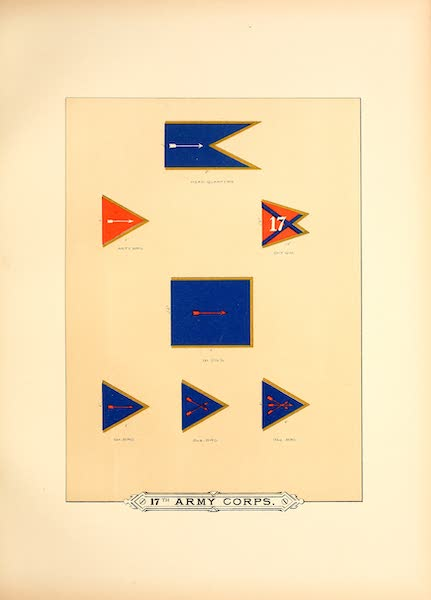 Flags of the Army of the United States - 17th Army Corps (I) (1887)